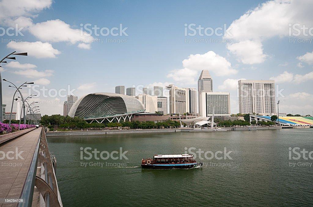 Singapore Marina Bay and Esplanade stock photo