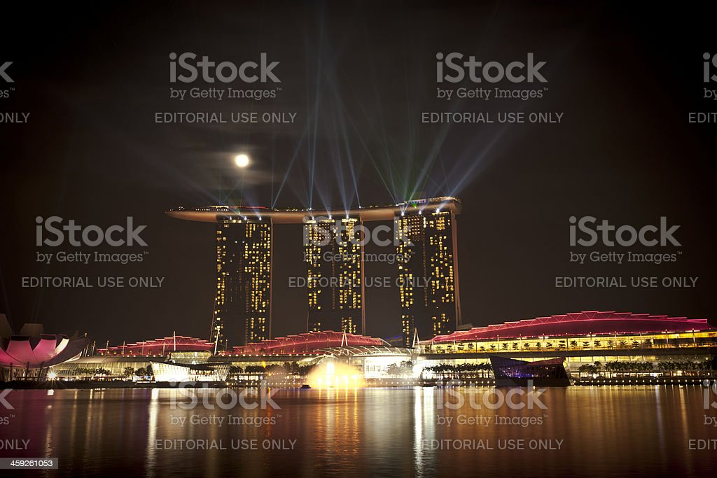 singapore marina bay sands light show stock photo more pictures of