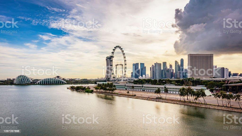 Singapore Marina East Panorama stock photo