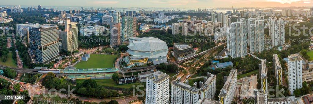 Singapore mass rapid train (MRT) Buona Vista station stock photo