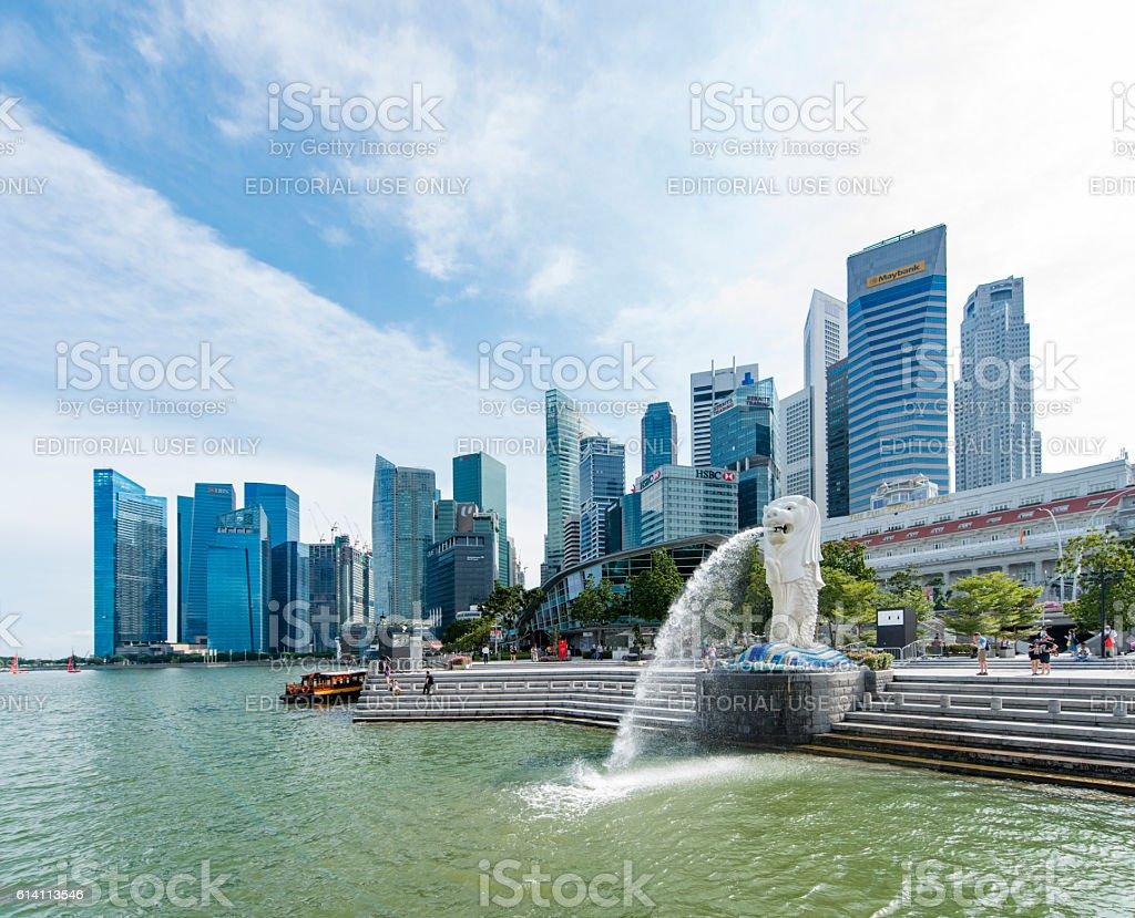 Singapore Merlion Statue stock photo