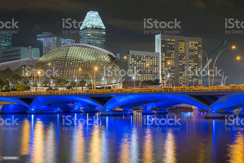 Singapore night stock photo