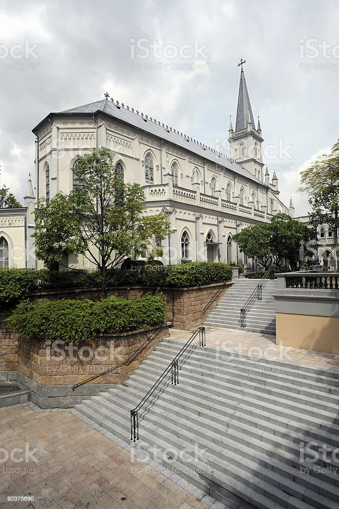 Singapore old school CHIJMES royalty-free stock photo