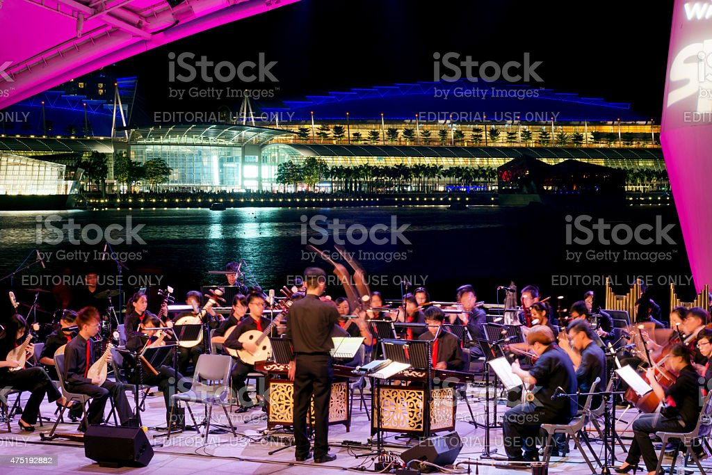 Singapore, Open Air Orchestra at the Esplanade Theater stock photo
