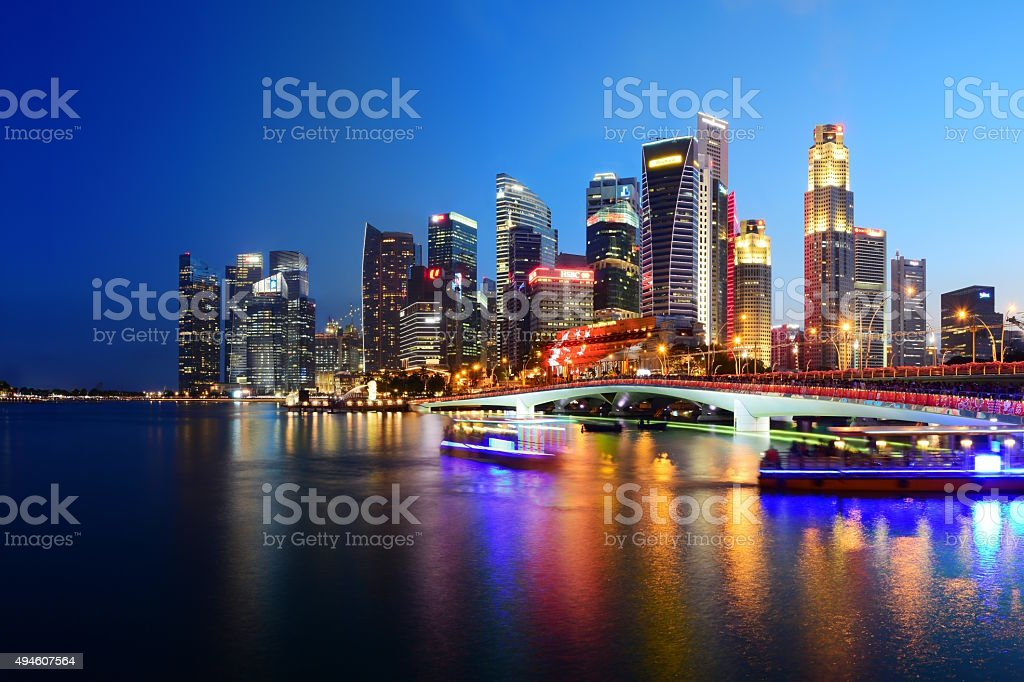 Singapore Panoramic Cityscape stock photo