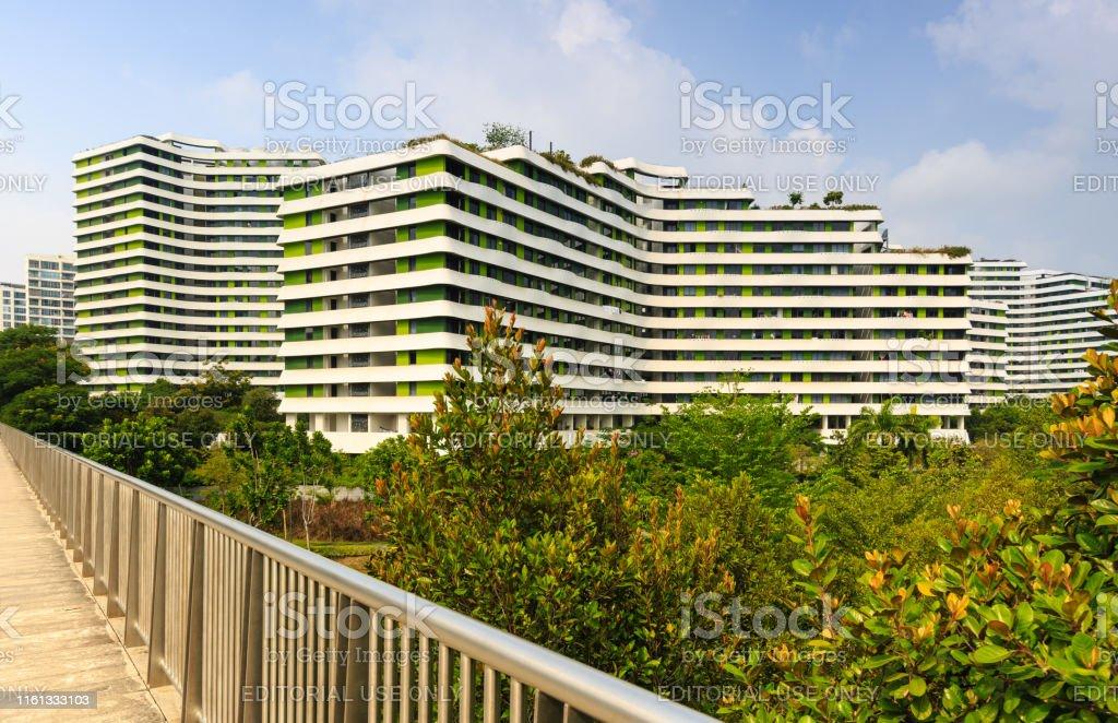 Singapur Punggol área Terraza De Agua Fachada Edificio