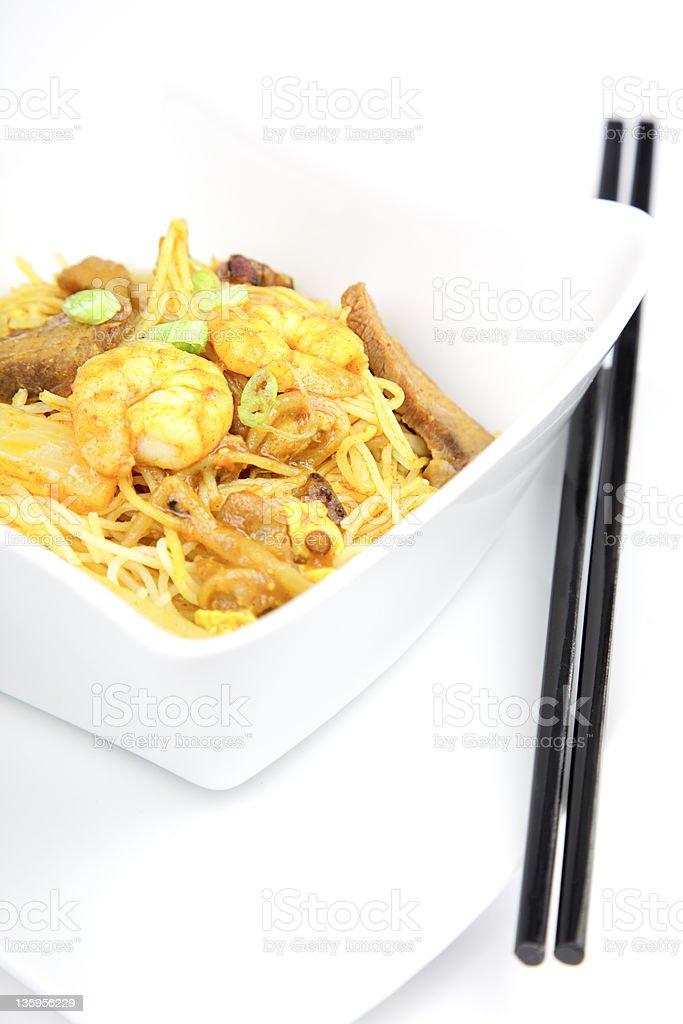 Singapore Rice Noodles royalty-free stock photo