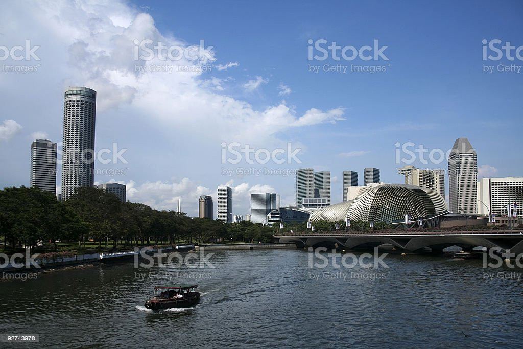 singapore river royalty-free stock photo