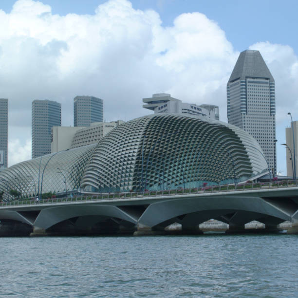 Singapore, Singapore Singapore, Singapore - February 05, 2002 : View of Esplanade - Theatres on the Bay (Durian) esplanade theater stock pictures, royalty-free photos & images
