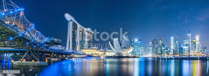 Singapore Marina bay area.