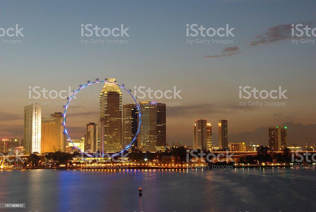 Singapore skyline 2009 stock photo