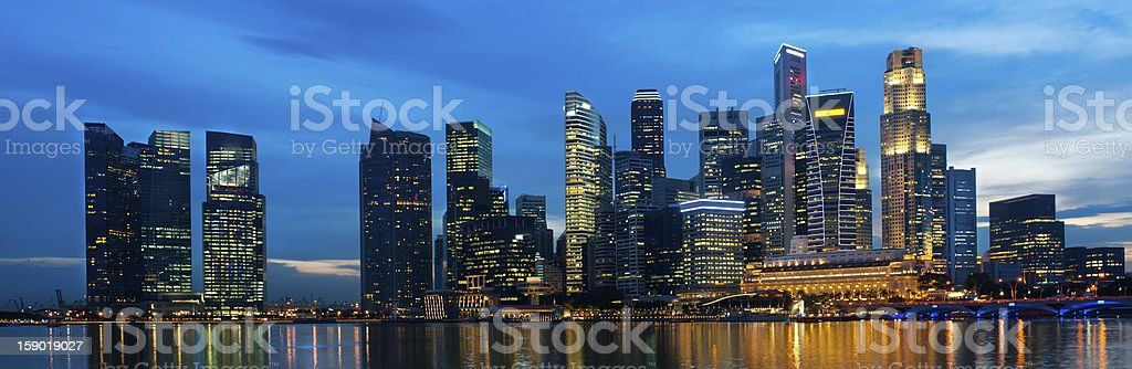 Singapore skyline at night. royalty-free stock photo