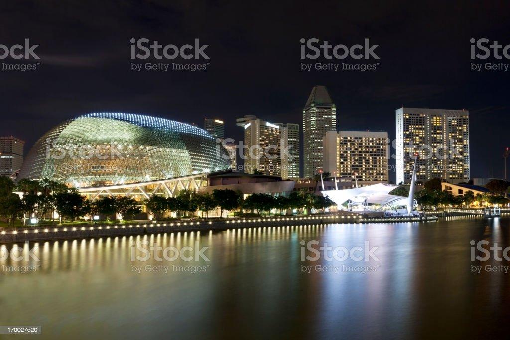 Singapore Skyline at Night stock photo