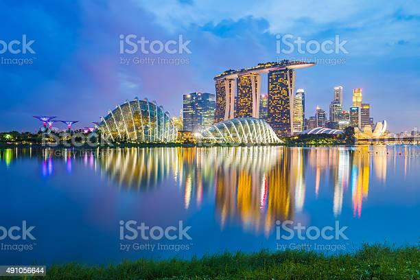 Singapore skyline cityscape at night