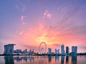 Panoramic view of Singapore skyline