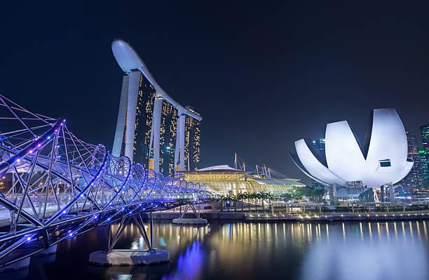 Singapur Skyline und Marina Bay Sands Hotel, Singapur – Foto