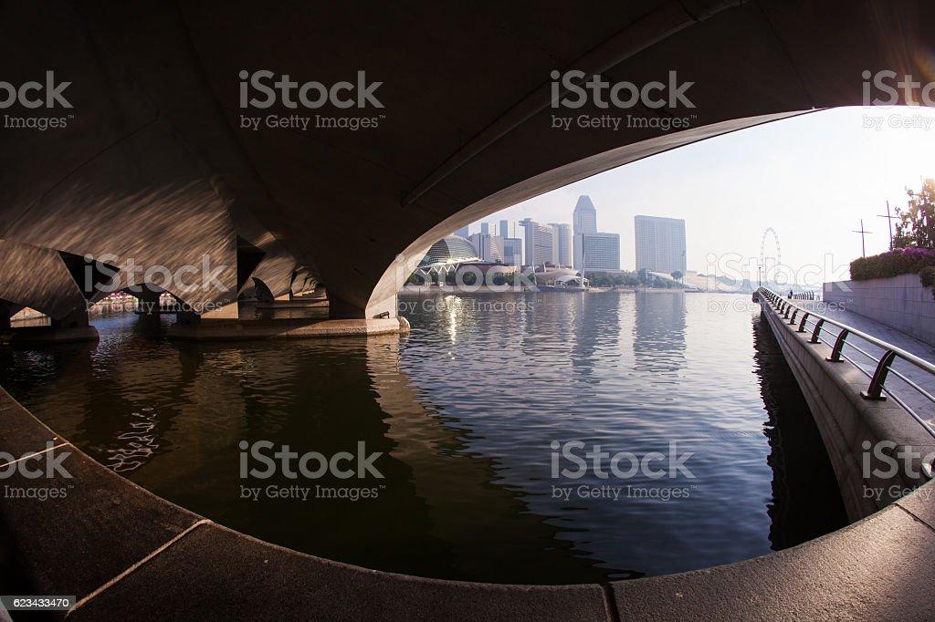 Singapore skyscrapers stock photo
