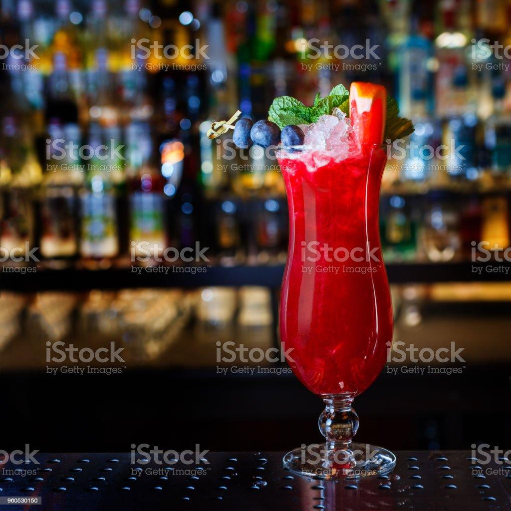 Singapore Sling cocktail stock photo