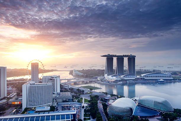 Singapore Sunrise stock photo