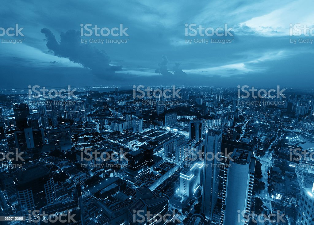 Singapore sunset royalty-free stock photo