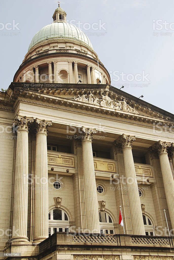 Singapore Supreme Court royalty-free stock photo