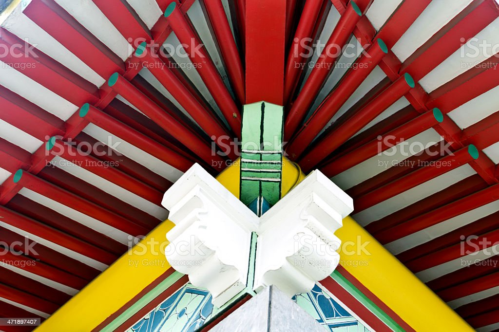 Singapore, traditional Chinese architecture. royalty-free stock photo