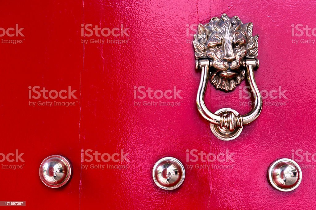 Singapore, traditional red doors. stock photo