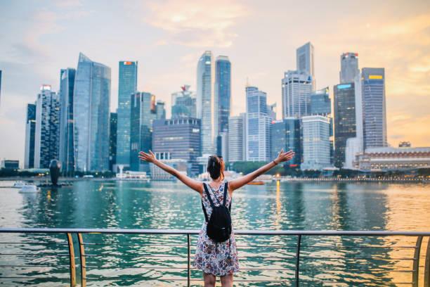 Singapore wanderlust stock photo