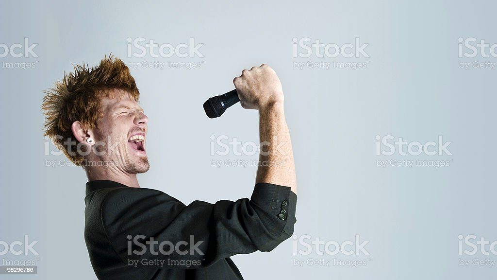 Cantante in studio foto stock royalty-free