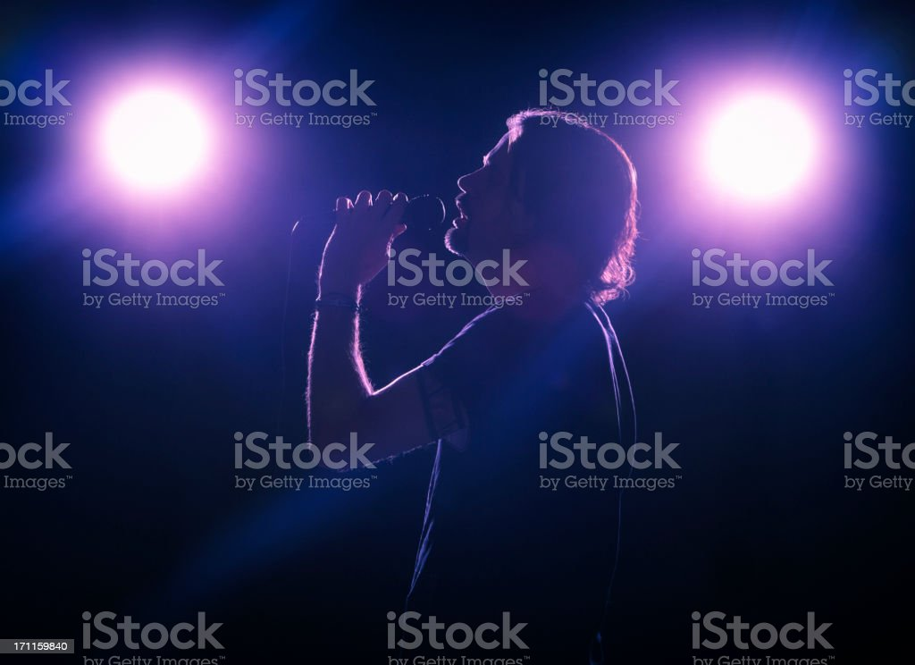 Singer on Stage stock photo
