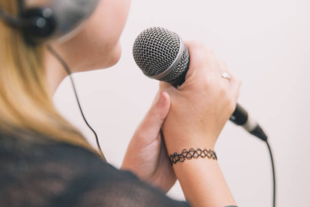 singer - diction stock pictures, royalty-free photos & images