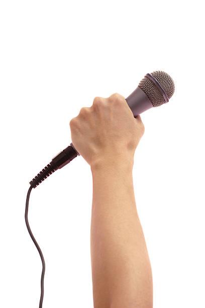 歌手 - 握る ストックフォトと画像