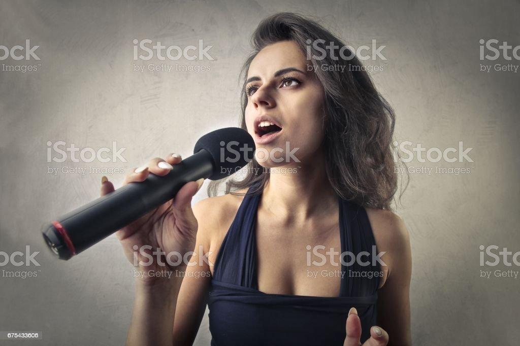 Şarkıcı royalty-free stock photo