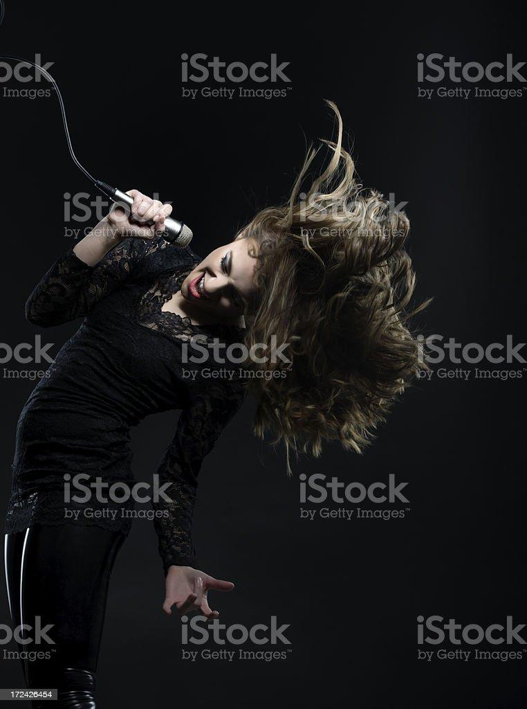 singing and dancing royalty-free stock photo