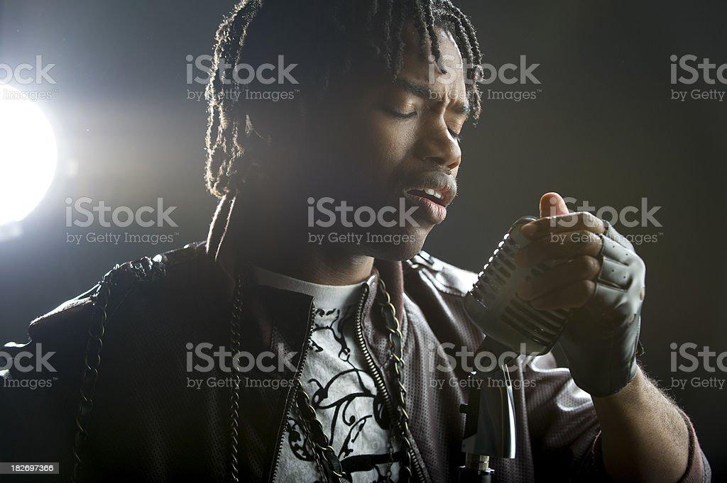Singing Artist stock photo
