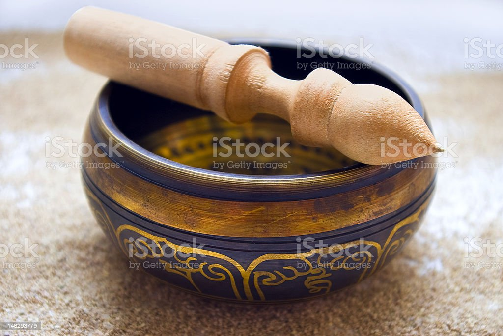 Singing bowl for positive vibration royalty-free stock photo