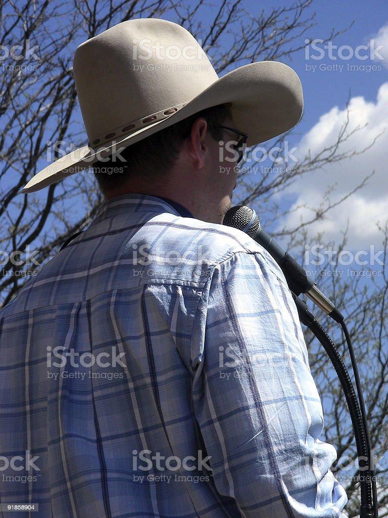 Singing Cowboy stock photo