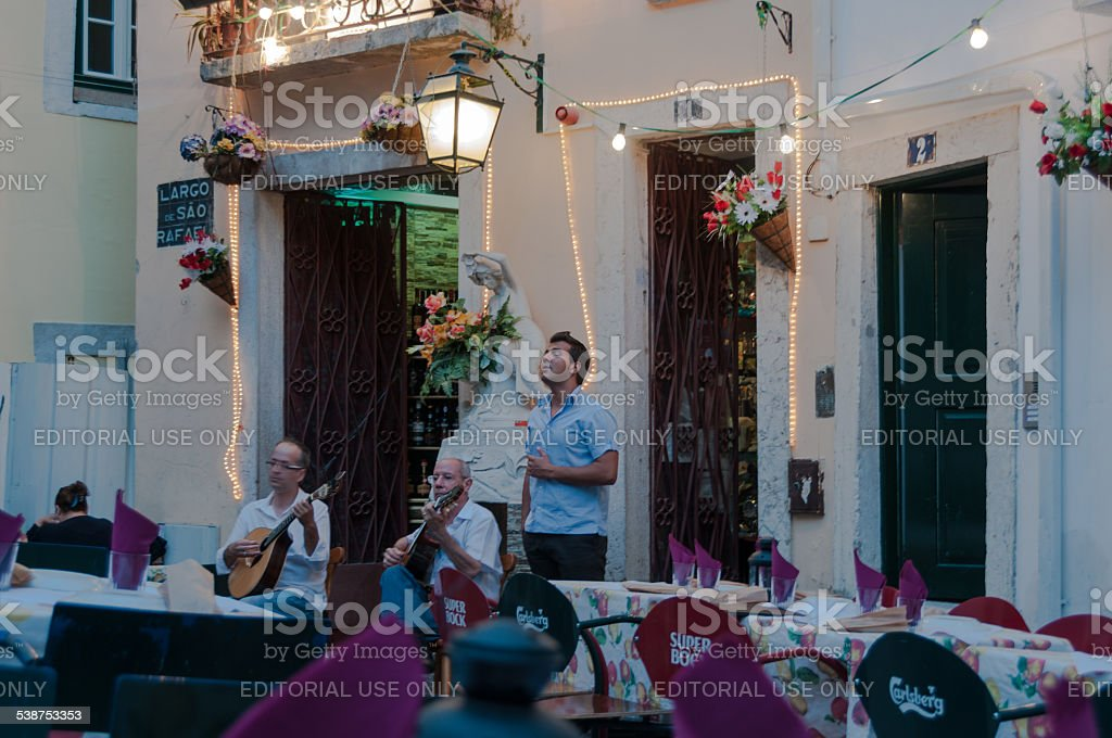 singing fado stock photo