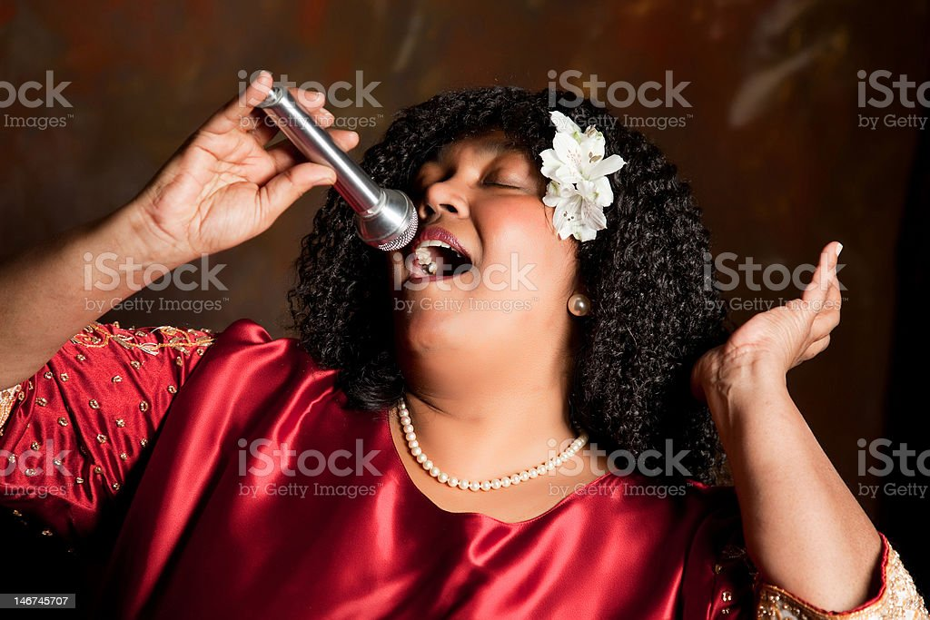 Singing for the Lord stock photo