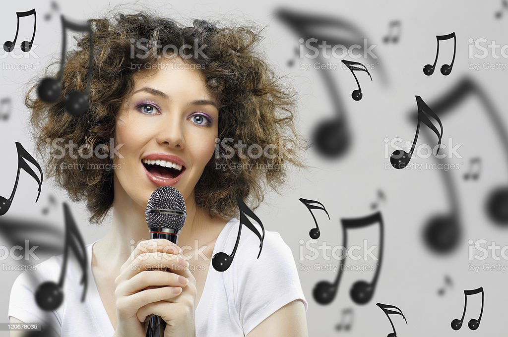 singing girl royalty-free stock photo