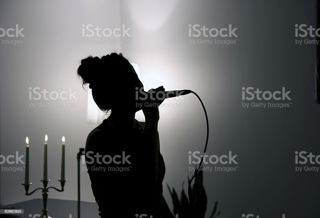 Singing in the Dark stock photo