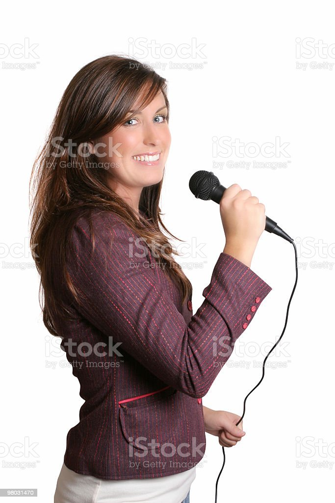 Singing is so much fun royalty-free stock photo