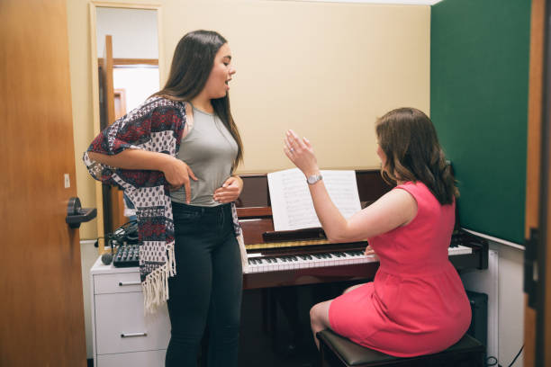 singing lessons - diction stock pictures, royalty-free photos & images