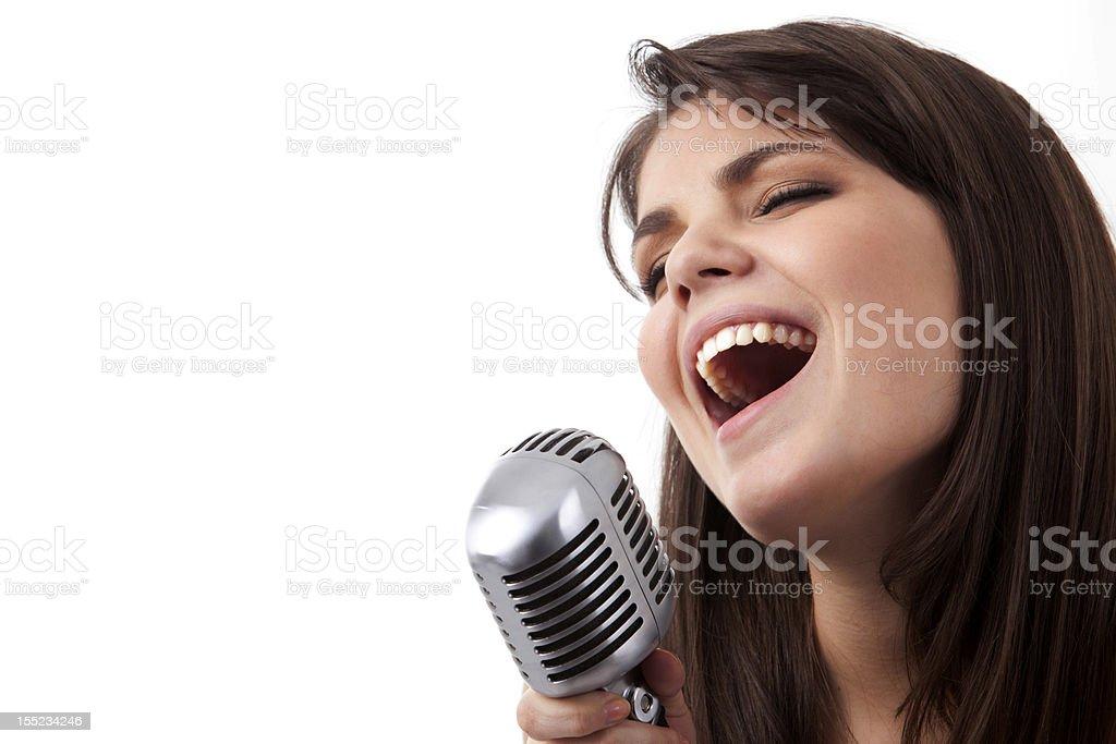 Singing stock photo