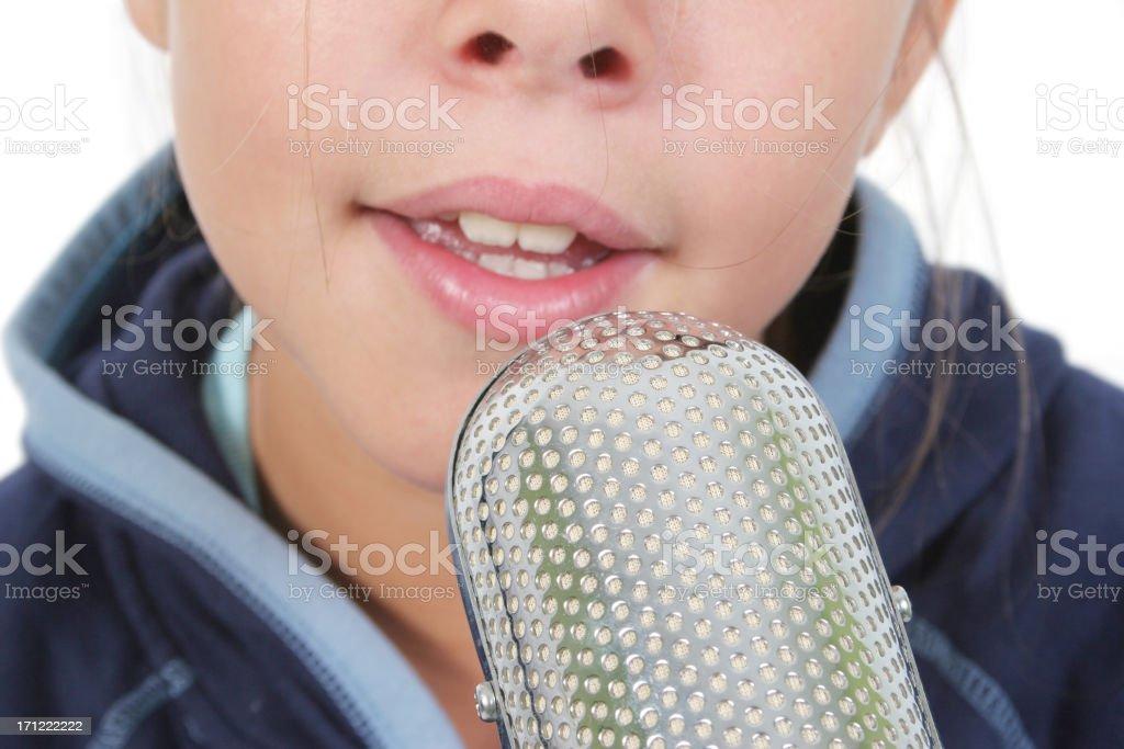 Singing royalty-free stock photo