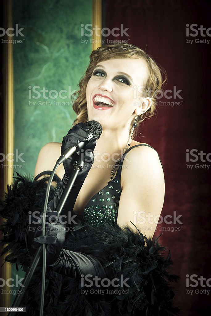 Singing Pop Star royalty-free stock photo