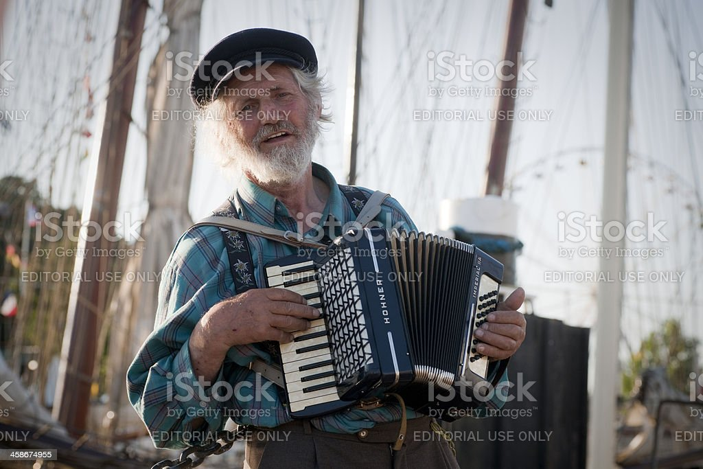 Singing sailor stock photo