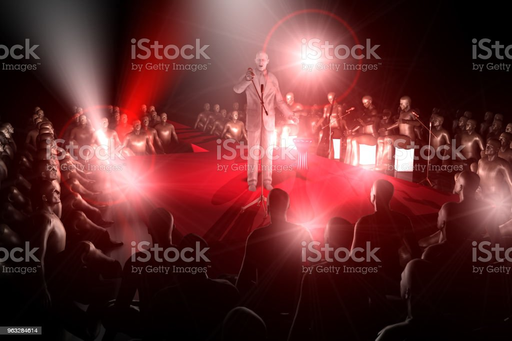 Singing Singer stock photo