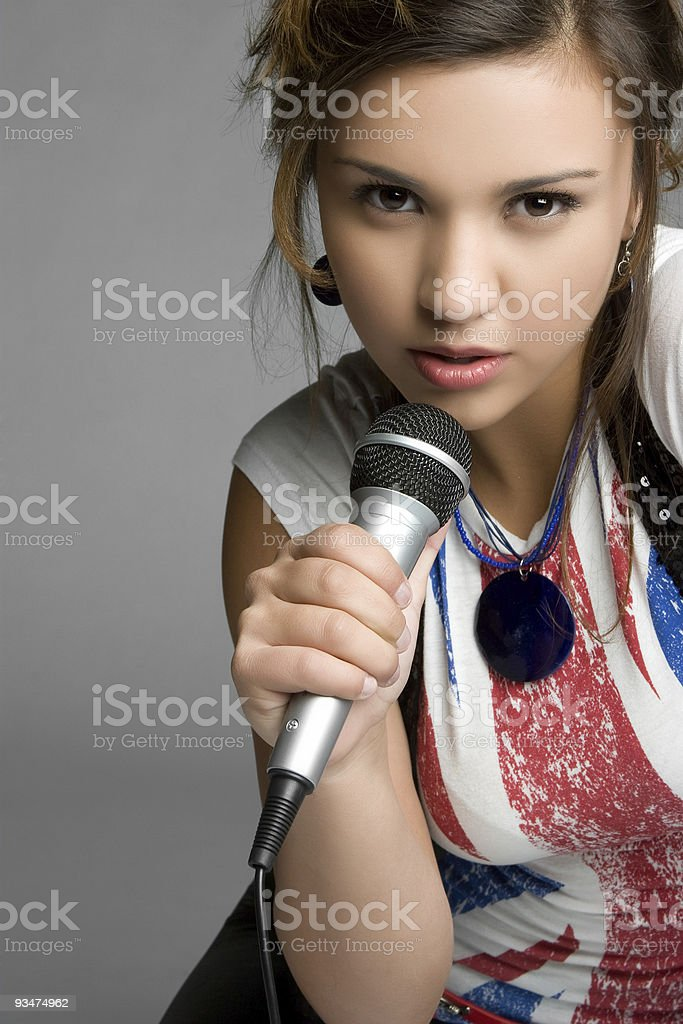 Singing Teen Girl royalty-free stock photo