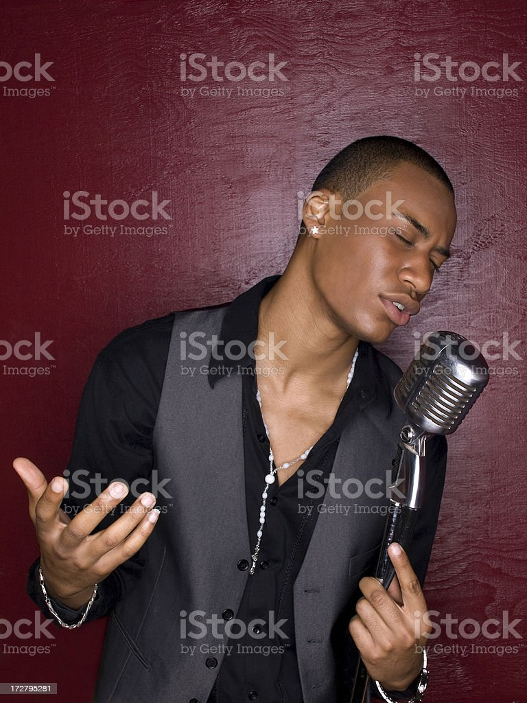 Singing With Feelings stock photo